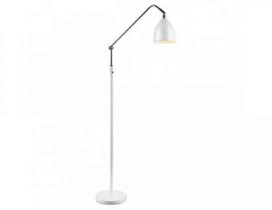 Fredrikshamn - Lampa podlahová (kov/kov/bílá)