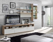 Freedom - Obývací stěna (dub - korpus/bílá, dub - fronty)
