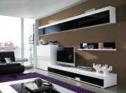 Freestyle - Obývací stěna, set GW (bílá/černá,bílá) - II. jakost