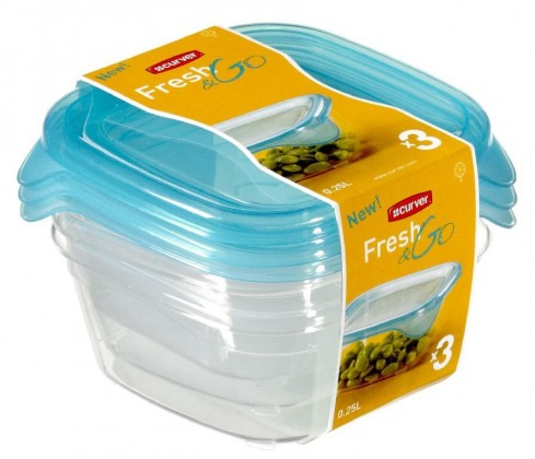 Fresh&Go 3x0,25l (plast,modrá)
