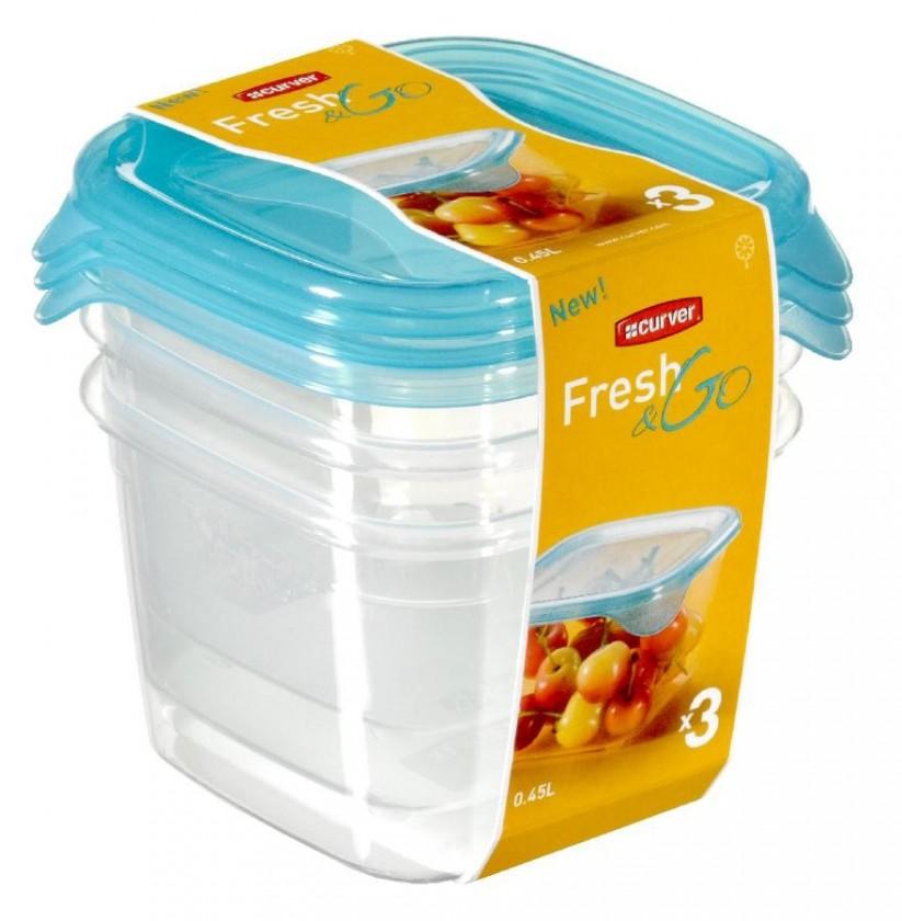 Fresh&Go 3x0,45l (plast,modrá)