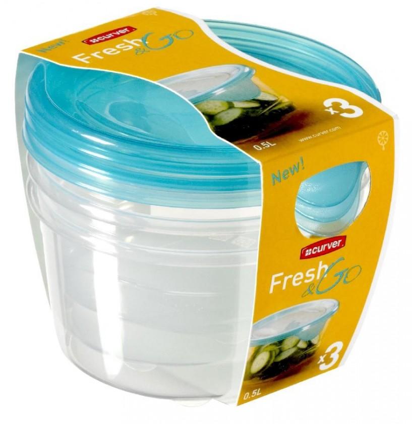 Fresh&Go 3x0,5l (plast,modrá)