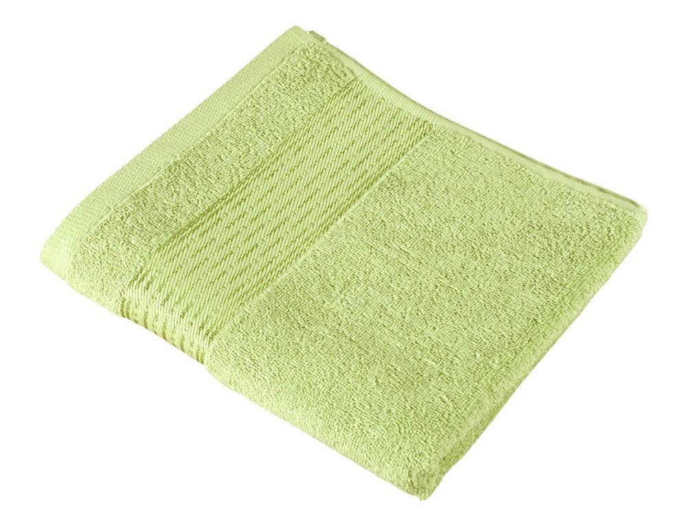Froté osuška Kamilka, proužek, 70x140cm (světle zelená)