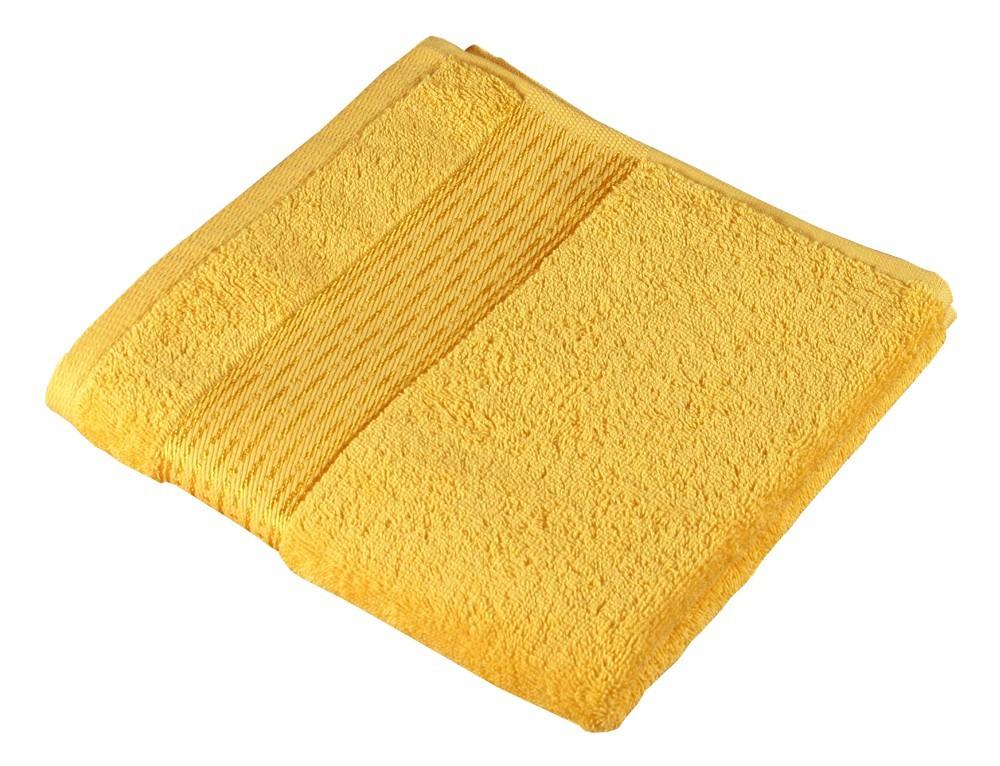 Froté osuška Kamilka, proužek, 70x140cm (žlutá)