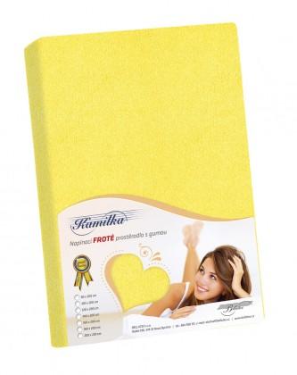 Froté prostěradlo 70x140 žlutá