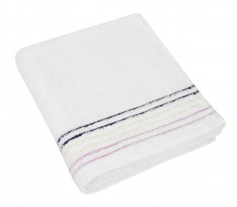 Froté ručník, fialová řada, 50x100cm (bílá)