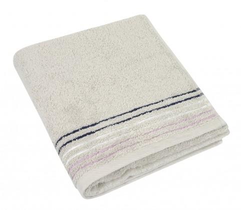 Froté ručník, fialová řada, 50x100cm (bílá káva)