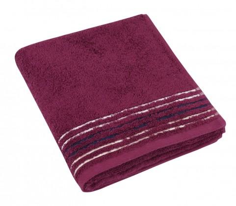 Froté ručník, fialová řada, 50x100cm (vínová)