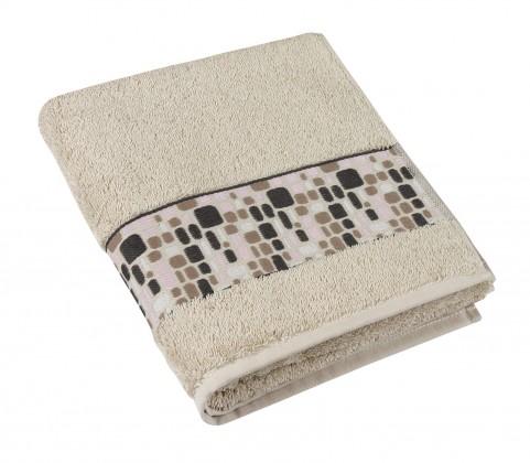 Froté ručník Kameny, 50x100cm (béžová)