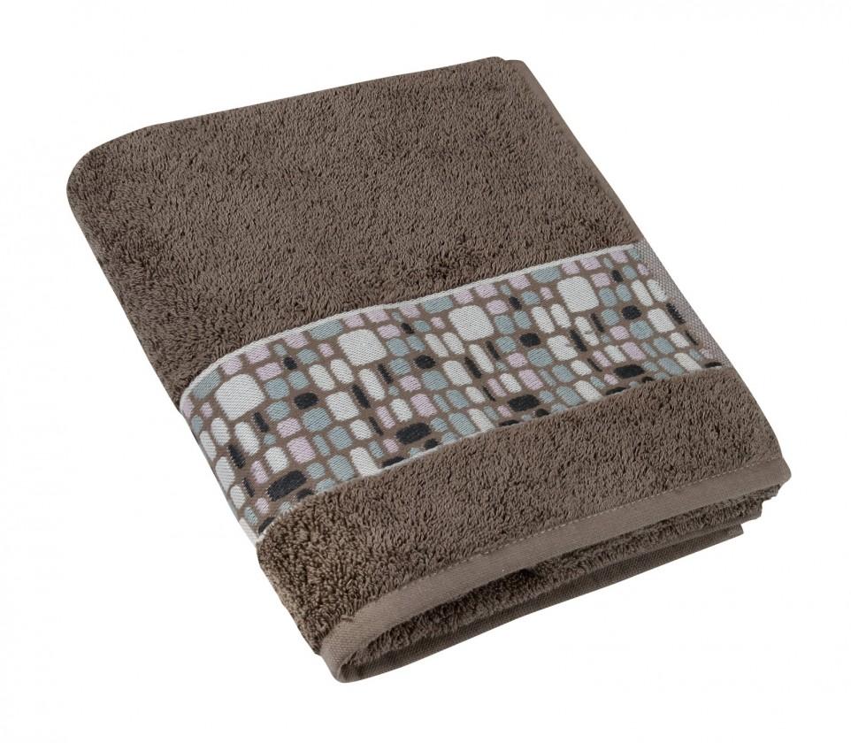 Froté ručník Kameny, 50x100cm (hnědá)