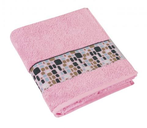 Froté ručník Kameny, 50x100cm (růžová)