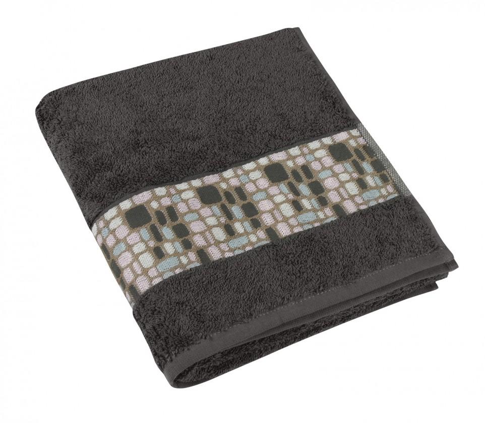 Froté ručník Kameny, 50x100cm (šedá)