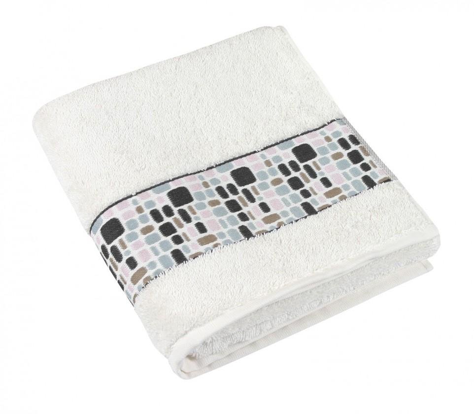 Froté ručník Kameny, 50x100cm (smetanová)