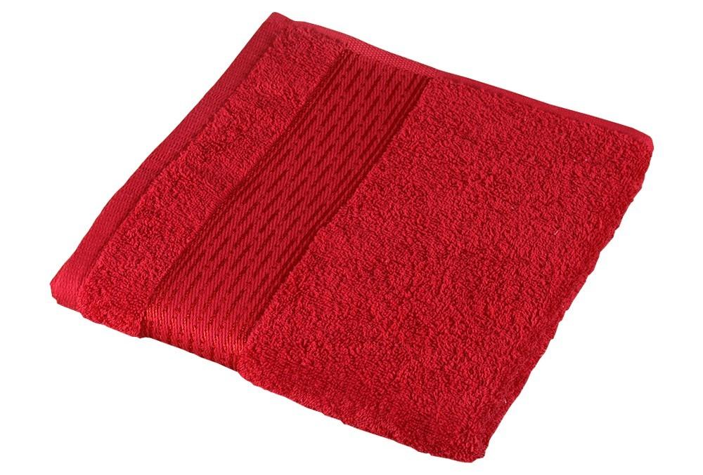 Froté ručník Kamilka, proužek, 50x100cm (červená)