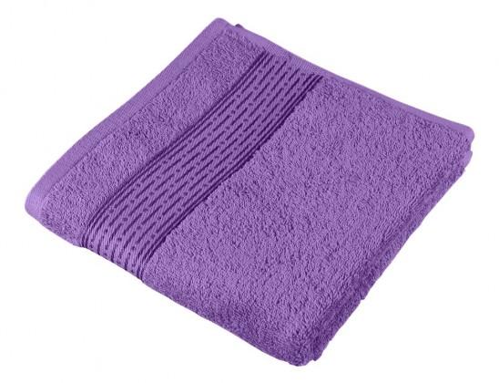 Froté ručník Kamilka, proužek, 50x100cm (fialová)