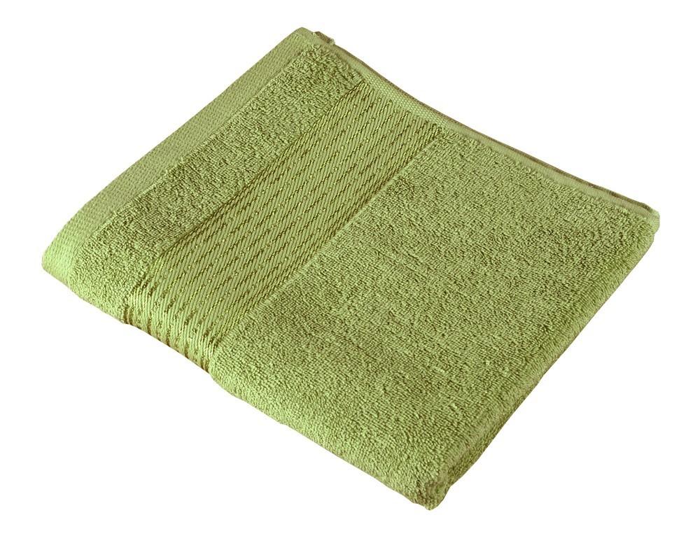 Froté ručník Kamilka, proužek, 50x100cm (olivová)