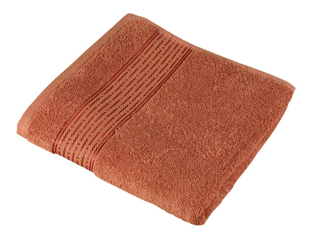 Froté ručník Kamilka, proužek, 50x100cm (terra)