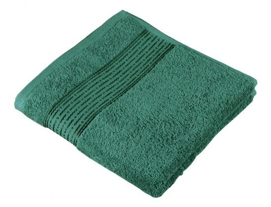 Froté ručník Kamilka, proužek, 50x100cm (tmavě zelená)