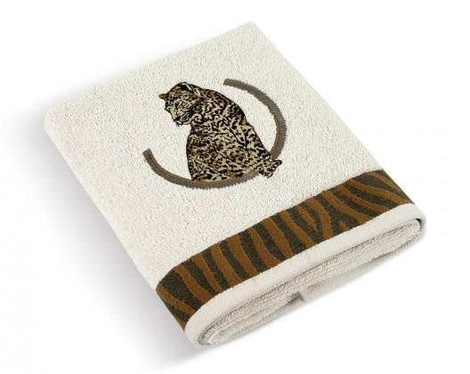 Froté ručník Leopard 500g, 30/15, 50x100cm (krémová)