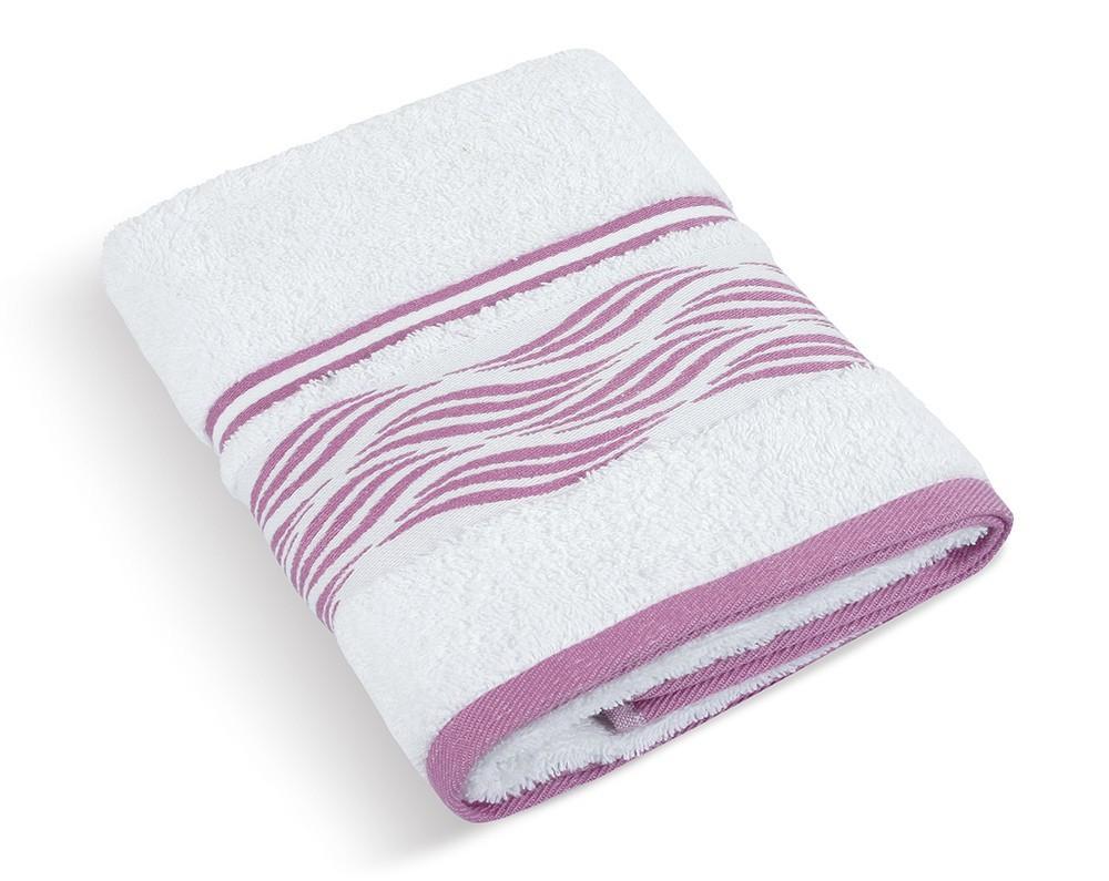 Froté ručník Vlnka 480g, 72/101, 50x100cm (bílá)