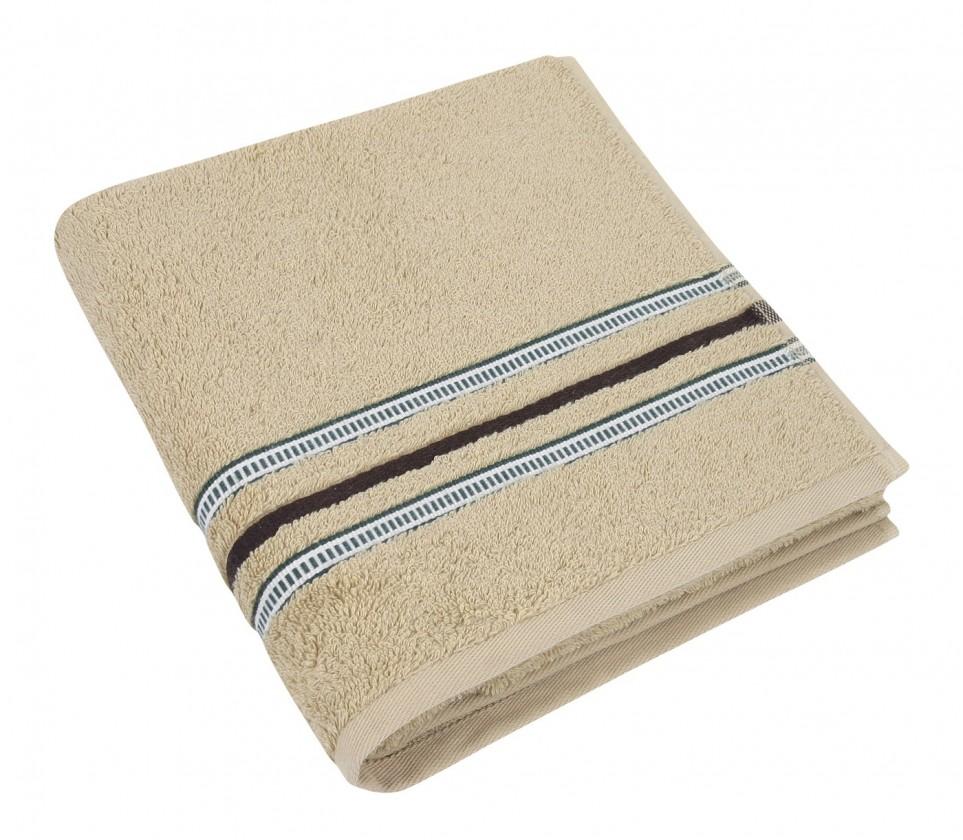 Froté ručník, zelená řada, 50x100cm (béžová)