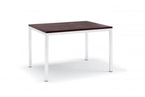 Full - Jídelní stůl (lak bílý matný, wenge)