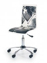 Fun 9 - dětská židle (bílo-černá)