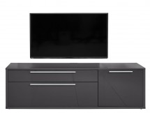 Gamble - TV stolek 570154 (antracit/antracit lesk) - II. jakost