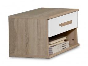 Game - Noční stolek (bílá, dub)