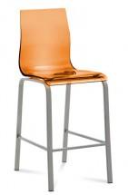 Gel - Barová židle (oranžová transparentní) - Z EXPOZICE