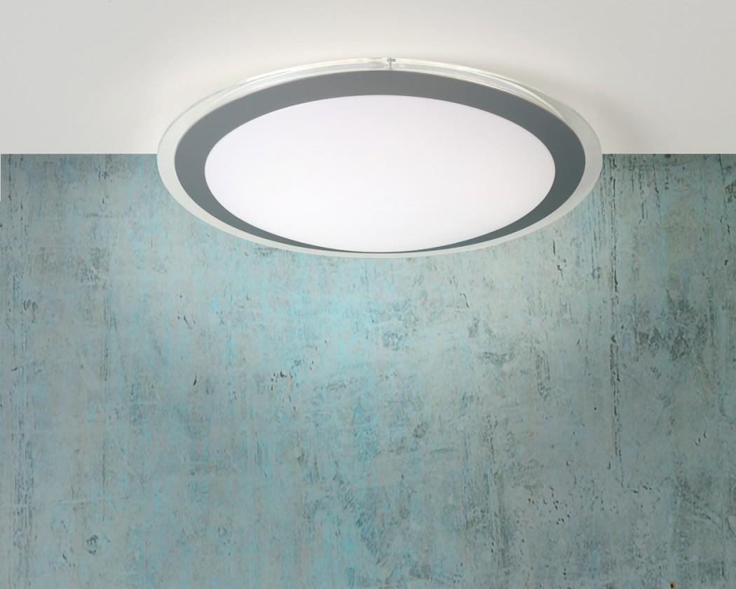 Gently - stropní osvětlení, 22W, T5, 33 cm (šedá)