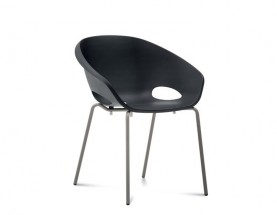 Globe - Jídelní židle (lak pískový, černá)