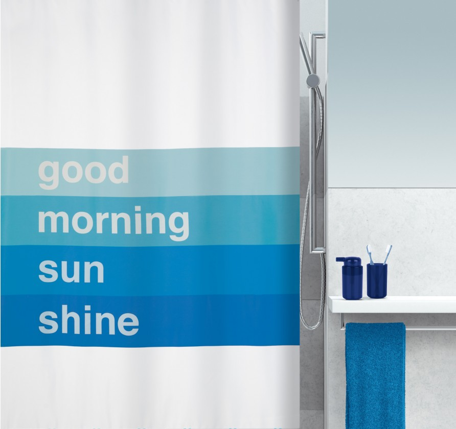 Good morning-Sprch.závěs 180x200(modrá)
