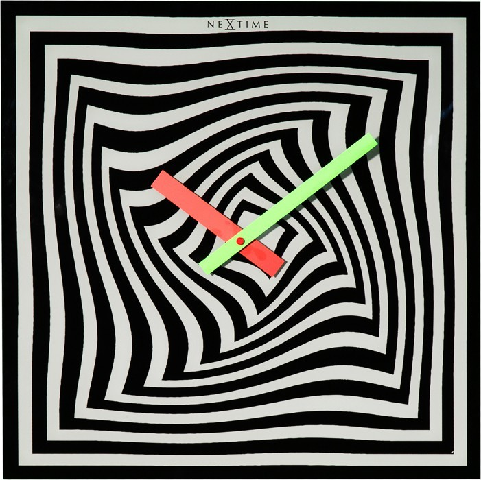 Gracy Time - hodiny, nástěnné, hranaté (sklo, barevné)