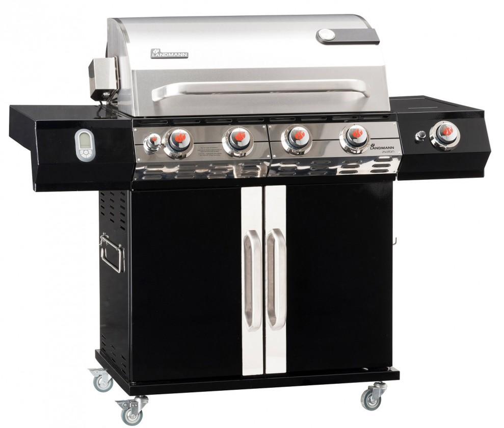 Gril, příslušenství Avalon XL - Gril BBQ (ocelový plech, nerezová ocel)