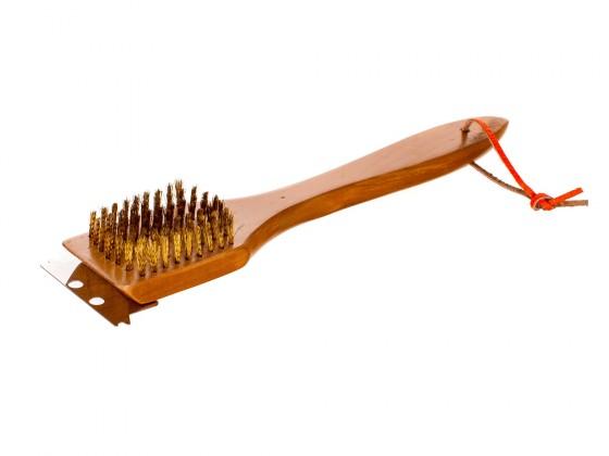 Gril, příslušenství Dřevěný čístící kartáč, 30cm (dřevo)