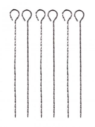 Gril, příslušenství Grilovací jehlice, 31cm, 6 ks (chrom)