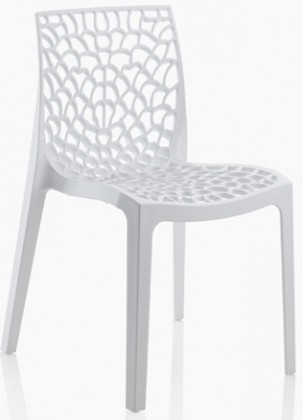 Gruvyer - Jídelní židle (bílá)