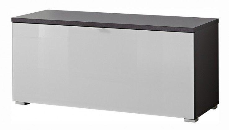 GW-Alameda - Botník,1x výklopné dveře (antracit/bílá)