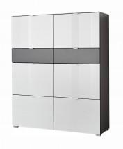 GW-Alameda - Botník,6x dveře,2x šuplík (antracit/bílá)