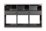 GW-Duo - stůl (antracit, 3 zásuvky)