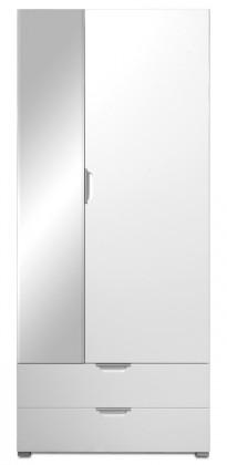GW-Event - Skříň se zrcadlem (bílá)