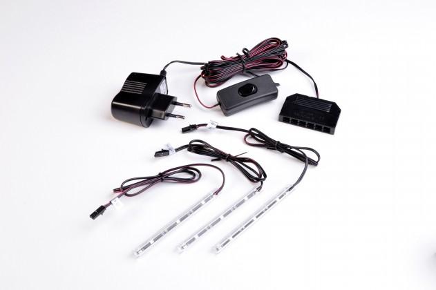 GW-Fino - LED osvětlení,transformátor,modré světlo,3xLED (černá)