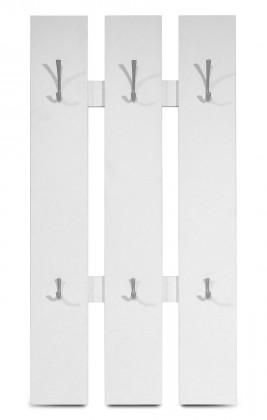 GW-Mediano - Věšákový panel, 6x háček (bílá)