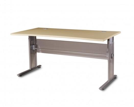 GW-Profi-Stůl,výškově stavitelný,šířka 160cm (javor/stříbrná)