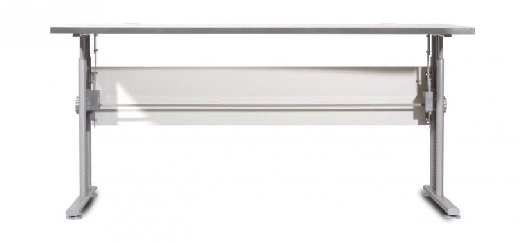 GW-Profi-Stůl,výškově stavitelný,šířka 160cm (světle šedá)
