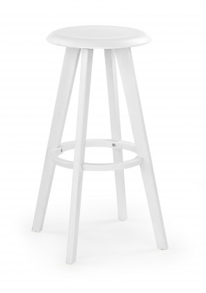 H-77 - Barová židle, bílá (plast)