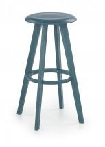 H-77 - Barová židle, modrá (plast)
