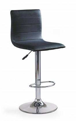 H21 - Barová židle (černá, stříbrná)