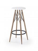 H68 - Barová židle (bílá, hnědá)